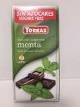 Шоколад без сахара Torras черный с мятой Испания 75г, фото №2