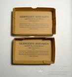 Немецкая старая коробка Gebruder Brehmer Leipzig, фото №2