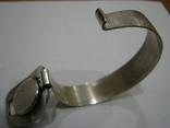 Серебряный (800-я) браслет и корпус женских часов., фото №3