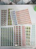 9 разных листов марок Россия, СНГ
