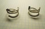 Два серебряных височных кольца photo 1