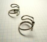 Два серебряных височных кольца photo 5