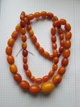 Янтарные бусы (натуральный камень) 90 грамм