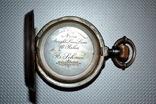 R.Schmid,карманные часы в серебре фото 2