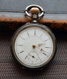 R.Schmid,карманные часы в серебре фото 1