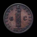 6 Сантимов 1846, Гаити