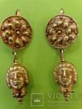Античные золотые серьги. Вес 9,1гр. photo 1
