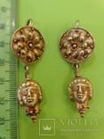 Античные золотые серьги. Вес 9,1гр. photo 2