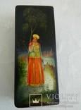 Шкатулка лаковая миниатюра Федоскино. Автор Теслицкая Н. 70-е годы photo 1