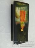 Шкатулка лаковая миниатюра Федоскино. Автор Теслицкая Н. 70-е годы photo 6