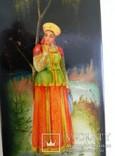 Шкатулка лаковая миниатюра Федоскино. Автор Теслицкая Н. 70-е годы photo 7