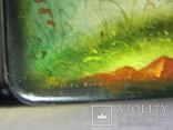 Шкатулка лаковая миниатюра Федоскино. Автор Теслицкая Н. 70-е годы photo 11