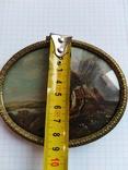 Старинная картина.миниатюрный портрет. Подпись photo 3