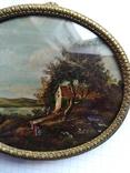 Старинная картина.миниатюрный портрет. Подпись photo 6