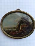 Старинная картина.миниатюрный портрет. Подпись photo 7