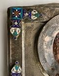 Спас в сер. окладе 84 пр. с накладками с выевмчатами эмалью (под реставрацию) photo 2
