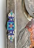 Спас в сер. окладе 84 пр. с накладками с выевмчатами эмалью (под реставрацию) photo 3