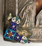 Спас в сер. окладе 84 пр. с накладками с выевмчатами эмалью (под реставрацию) photo 4