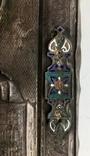 Спас в сер. окладе 84 пр. с накладками с выевмчатами эмалью (под реставрацию) photo 5