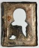 Спас в сер. окладе 84 пр. с накладками с выевмчатами эмалью (под реставрацию) photo 9