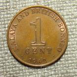 1 цент 1962 Малайя блеск, фото №2