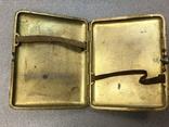Серебряный портсигар с золочением 875 photo 3