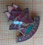 Знак ЦК ВЛКСМ 40 лет ВЛКСМ пионерский 1958 photo 4