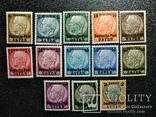 "1939 г марки Рейха с надпечаткой""Deutsche Post OSTEN"" генерал-губернаторово"