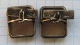Запонки серебро 875 №53, фото №8