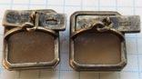 Запонки серебро 875 №53, фото №9