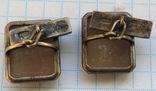 Запонки серебро 875 №53, фото №10