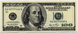 100 долларов номер 777