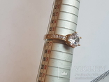 Набор серьги, кольцо, кулон, цепочка. Серебро 925 проба. Позолота., фото №7