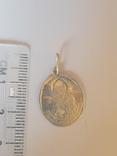 Ладонка нательная. Серебро 84 проба. Св. Николай., фото №3