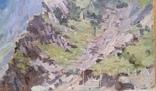 "Л.Харламов ""Кавказ, Кассарское ущелье, р. Ардон"", 1955р., 25х34,5 см, фото №3"