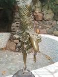 Танцовщица бронза гранит клеймо подпись, фото №4