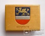 Немецкая деревянная коробочка для сигарет Rostok, фото №2