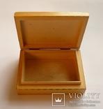 Немецкая деревянная коробочка для сигарет Rostok, фото №4