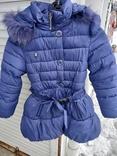 Красивое зимнее пальто на девочку 4-6 лет
