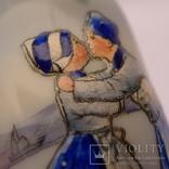 Фарфоровый флакон, деколь с ручной росписью. Голландия. photo 4