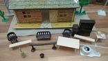 Игровой сет Форт Апачей 20 фигур + декорации 1950-1952гг. пр-ва оригинал США, фото №11