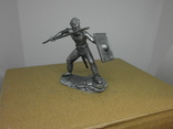 Воин со щитом и пикой. 60мм, фото №3