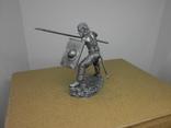 Воин со щитом и пикой. 60мм, фото №4