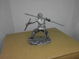 Воин со щитом и пикой. 60мм, фото №5
