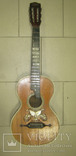 Цыганская гитара 1900 г. А. Ф. Гергардъ Харьков с перламутром, фото №2