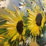Картина «Подсолнухи» масло мастихин 50х70см photo 5
