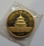 100 юаней 1986 год КИТАЙ золото 31,1 грамм 999,9`, фото №3