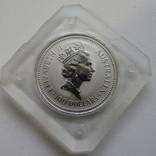 100 $ 1988 года АВСТРАЛИЯ платина 31,1 грамм 999,5`, фото №3