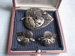Комплект   серебро 925пр. фионит   вес - 18г, фото №11