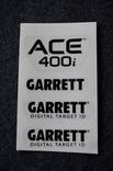 Наклейки Garrett ACE 400і